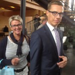 Aleksander Stubb ja Ulla-Maija Nikula Lahden puoluekokouksessa 14.6.2014